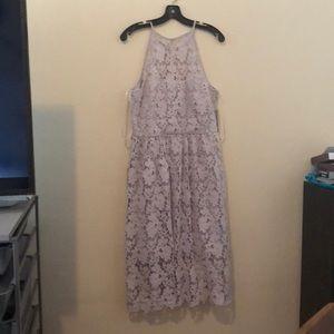 Halter sleeveless floral dress